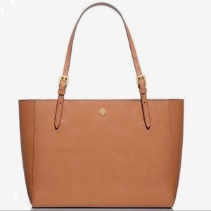 Tory Burch NWOT Small York Tote in Luggage Brown